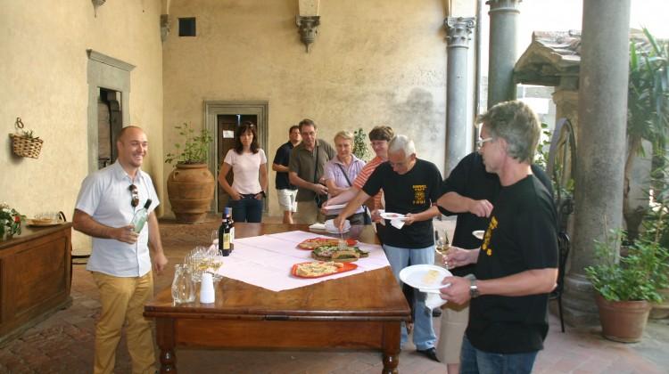 Weinverkostung im Castello del Trebbio